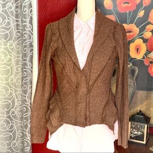 Vivienne Tam viscose/wool blend brown jacket